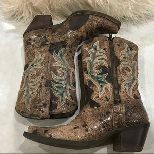 Ariat Distressed Cowgirl Boots w/Zipper EUC